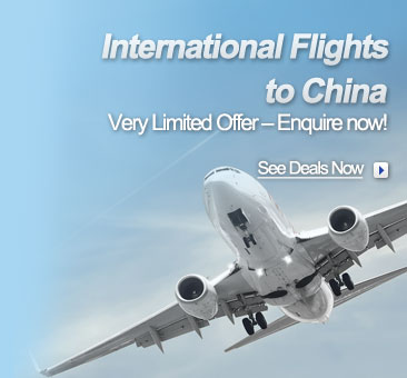 Book Flights From USA to Shanghai by searching on the left hand