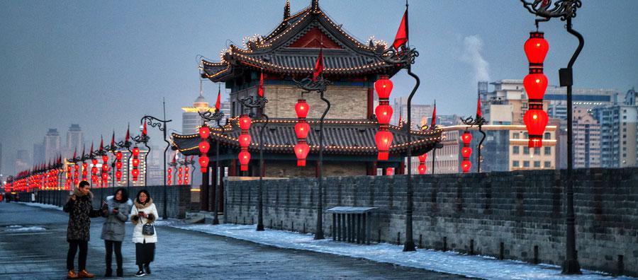 Torre flanqueante de la muralla de la ciudad de Xi'an